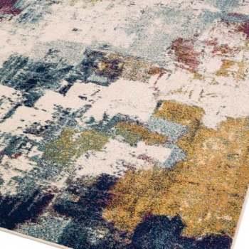 nova abstract mustard multi rug