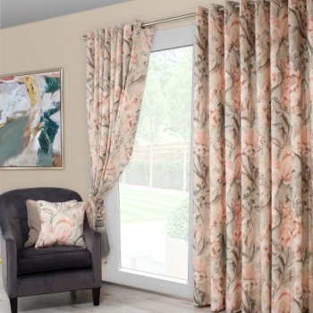 Scatter Box Edie Pair of Curtains, Blush/Sage