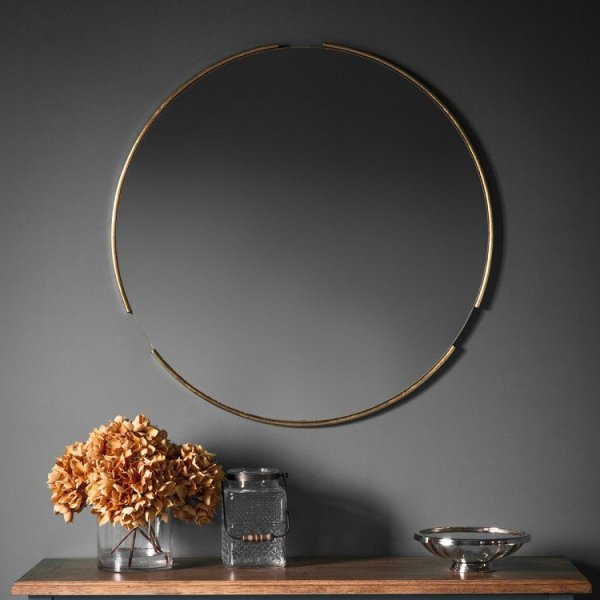 Fitzroy Round Mirror Gold