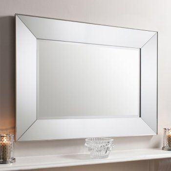Vasto Rectangle Silver Mirror