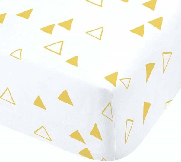 Catherine Lansfield Giraffe Yellow Fitted Sheet Single