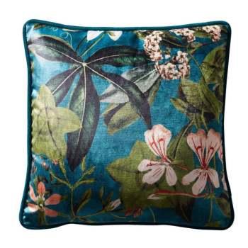 Passiflora Kingfisher Cushion 43x43cm
