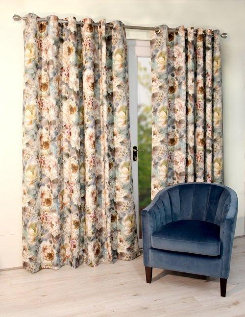 Scatterbox Primevara Teal Curtains