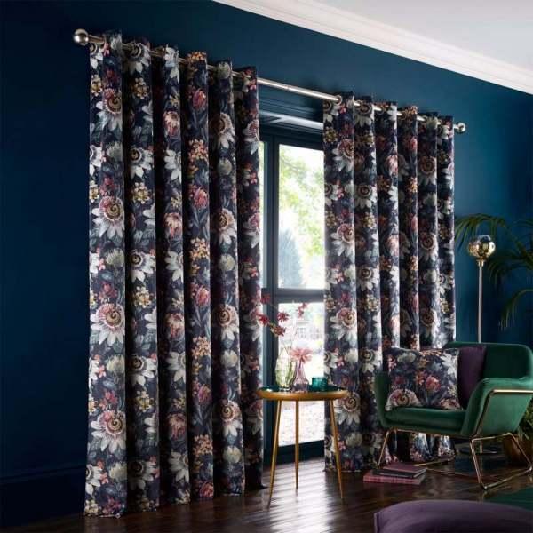 Studio G Pasionaria Curtains Midnight
