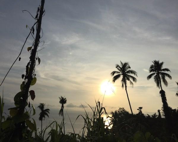 Pemandangan pagi di Halmahera yang memukau