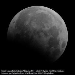 Gerhana Bulan Sebagian. Kredit: Avivah Yamani