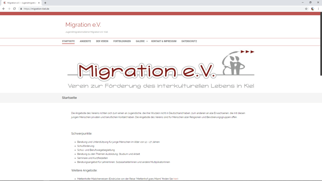 Jugendmigrationsdienst Migration e.V. Kiel