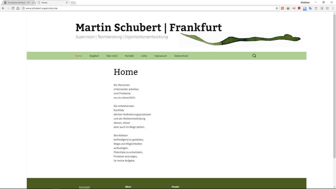 Martin Schubert Supervision