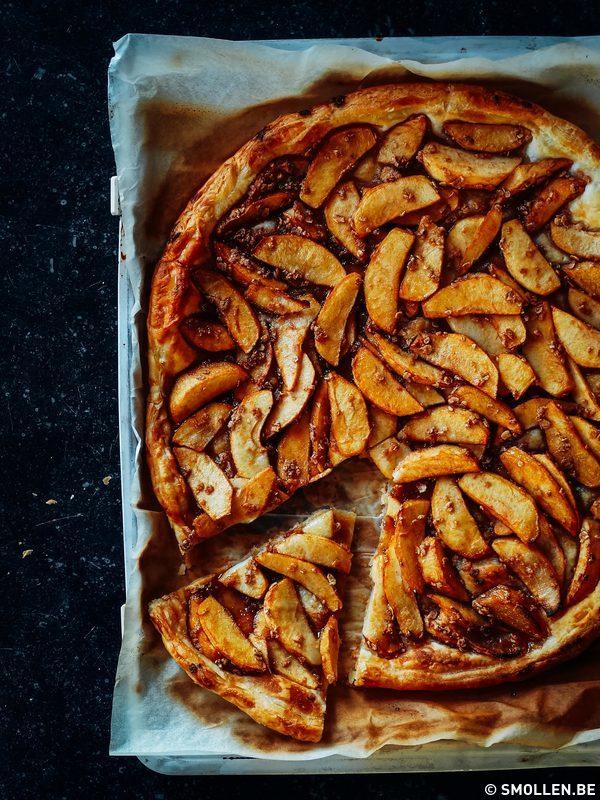 platte appeltaart smollen