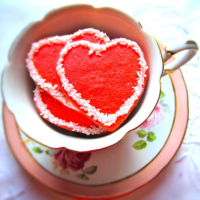 Hearts Cookies recipe / Розови сърца посипани с кокосови стърготини рецепта