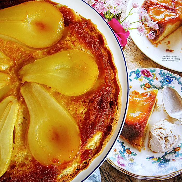 upside-down pear cake/ Торта с карамелизирани круши рецепта