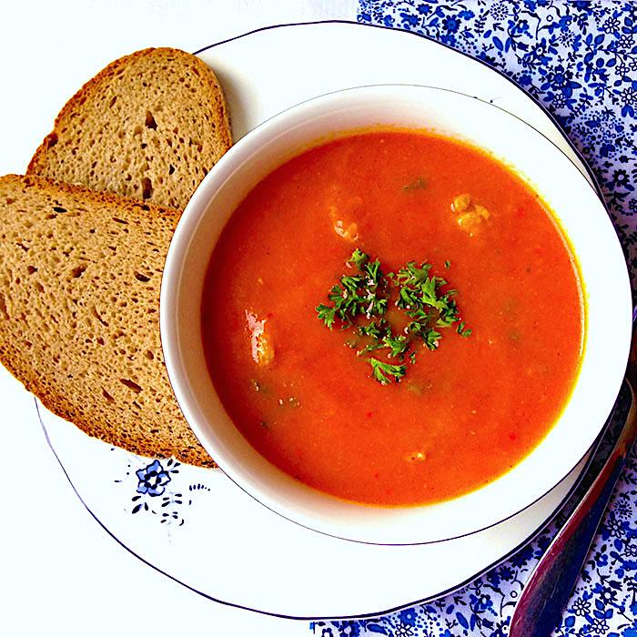 Tomatoe Soup / Доматена супа топчета рецепта