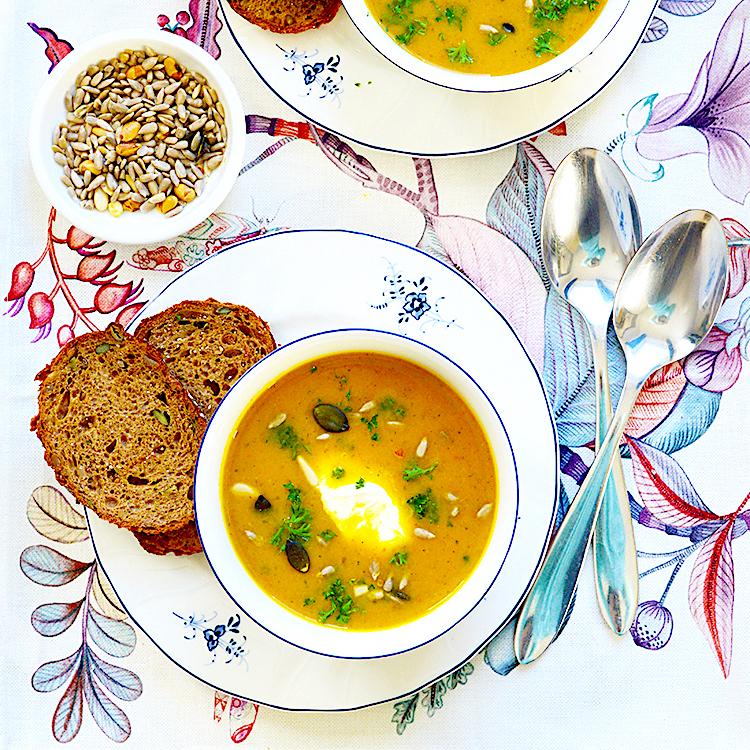 Spicy Vegetable Soup recipe / Тиквена Крем Супа с Куркума рецепта