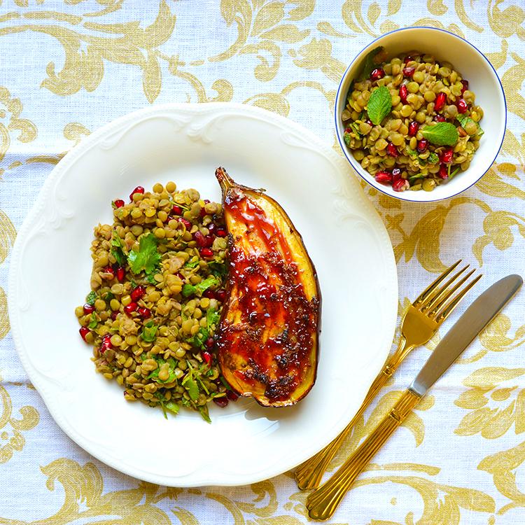 Aubergine Salad Recipe / Патладжан & Салата от Леща рецепта