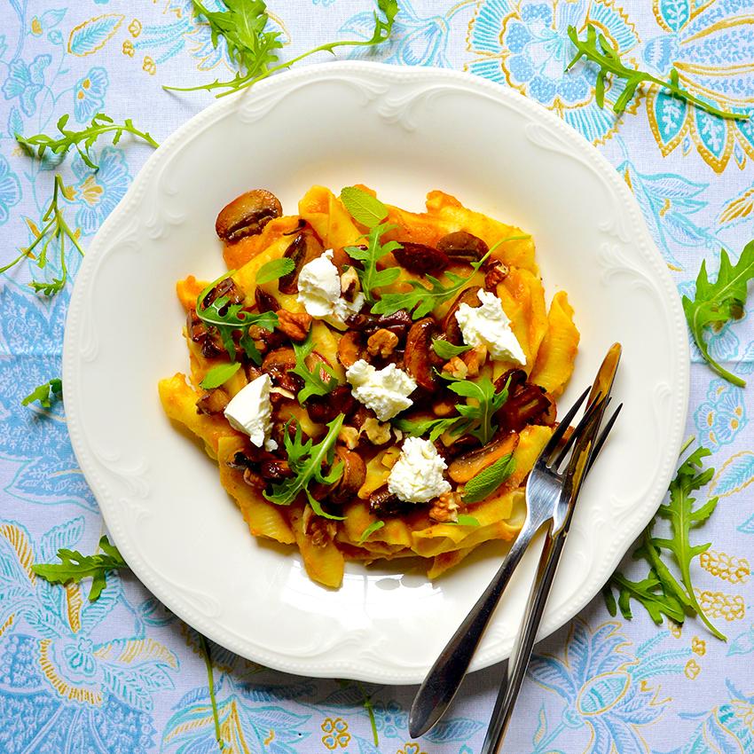Pumpkin Mushroom Pasta