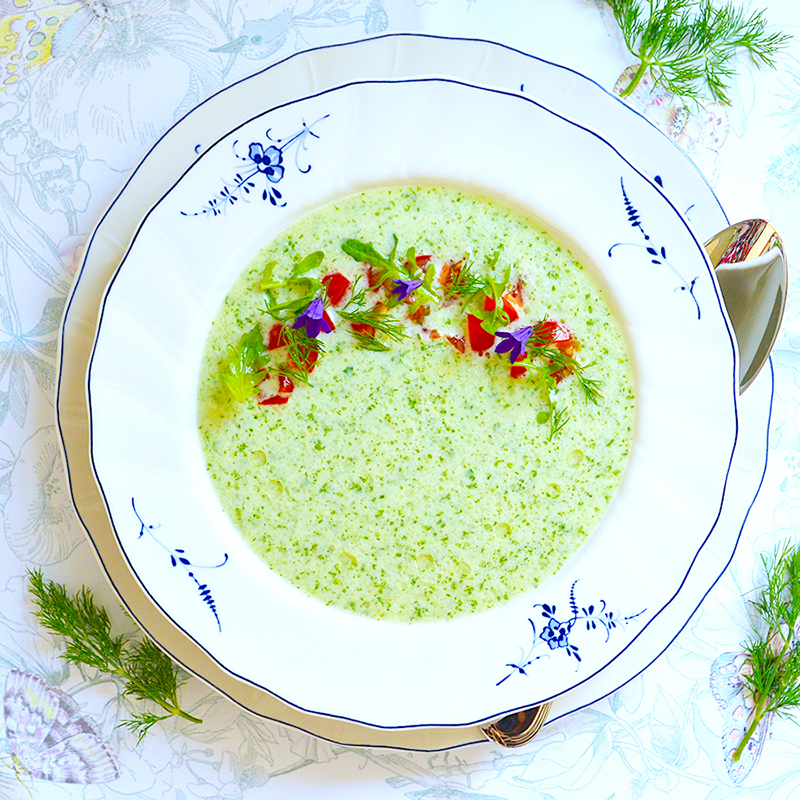 Cold Cucumber Yogurt Soup