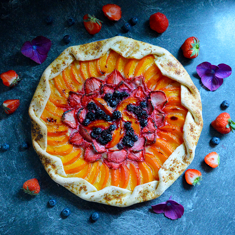 Strawberry Apricot Galette