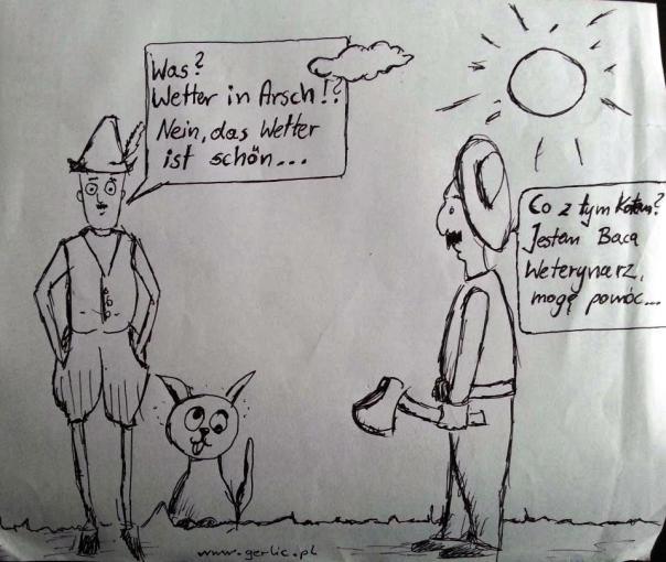 Weterynarz -Wetter in (im) Arsch - pogoda do bani.