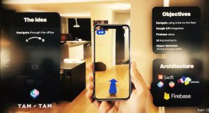 AR project with iBeacons for navigation within a building