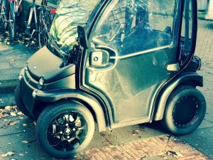Funny little cars that can be use to ride on the bike lanes