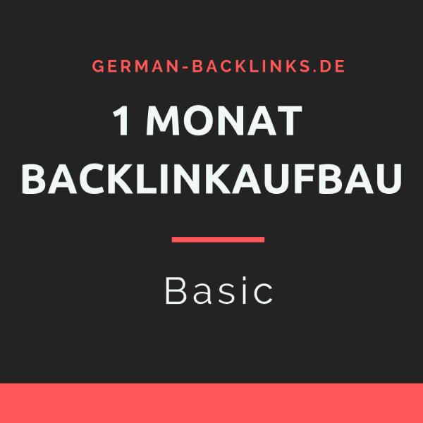 1 Monat Backlinkaufbau Basic
