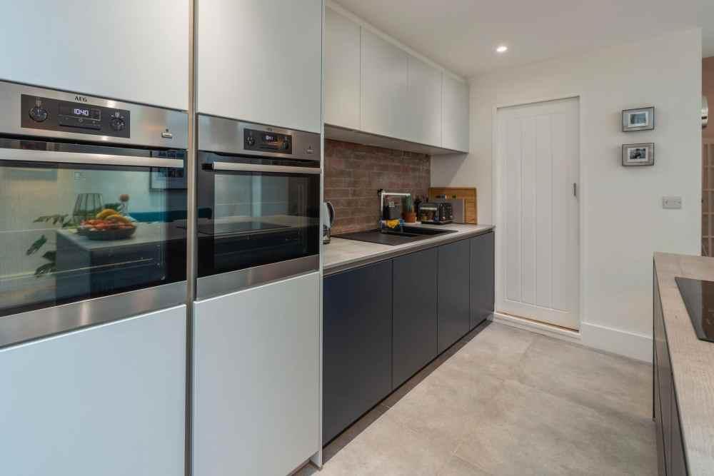 Schuller Biella Matt White - Indigo Blue Kitchen Project in Penarth - 06