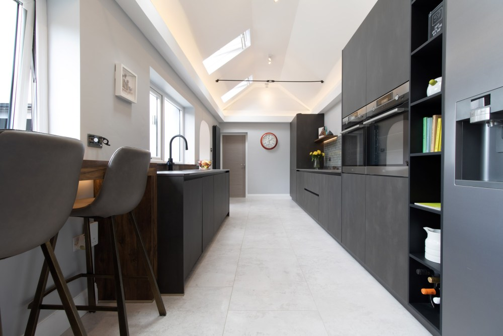 Schuller Targa Steel Kitchen Project in Old St Mellons - 04