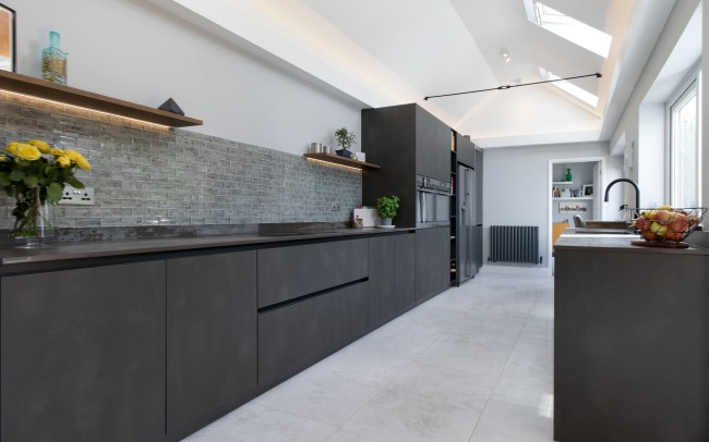 Schuller Targa Steel Kitchen Project in Old St Mellons - Main