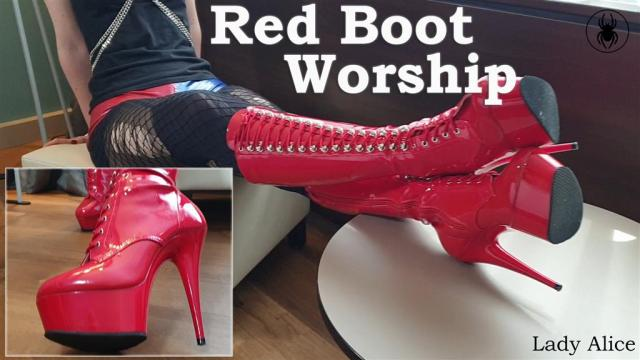 pornos 1687186 - Red PVC Boot Worship - Rote Lackstiefel - Worship, Stiefel, pvc, Latex, Lackstiefel, hotpants, Gothic, Fetish, Domina, boots