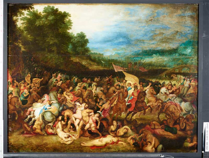 P.P. Rubens , J. Brueghel d.Ä.; Amazonenschlacht, 1597, © Stiftung Preussische Schlösser und Gärten Berlin Brandenburg, Bildergalerie Sanssouci, Fotograf: Wolfgang Pfauder