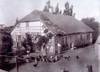 Niemann Pioneer Home on Pigeon Creek - Used as a Chicken Coop - after 1885. Photo mid-1890s