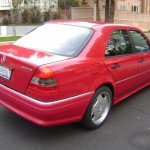 1995 mercedes benz c36 amg in red german cars for sale blog. Black Bedroom Furniture Sets. Home Design Ideas