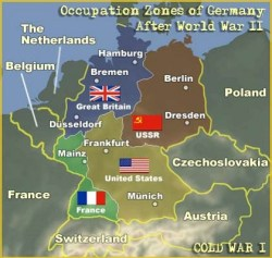 Image result for germany occupation zones ww2