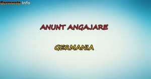 anunt angajare germania