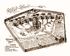 Fort Germanna artist's conception sketch on donate page