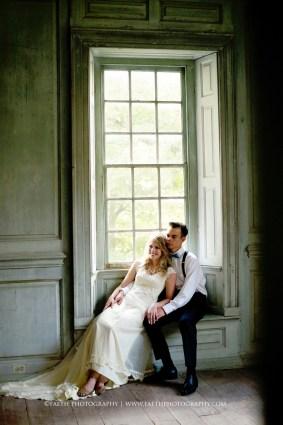 Salubria Wedding couple in window