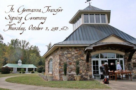 Fort Germanna Transfer Ceremony, October 2, 2013