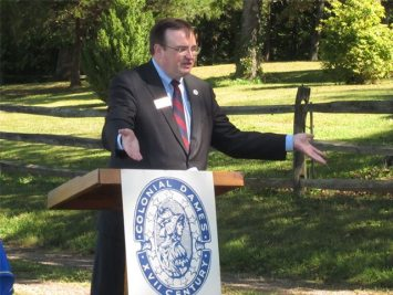 Germanna Foundation President Marc Wheat speaks at the ceremony.