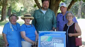Fort Christanna Committee visits Fort Germanna