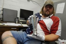 7. Master Engraver Doug Larson with chalice