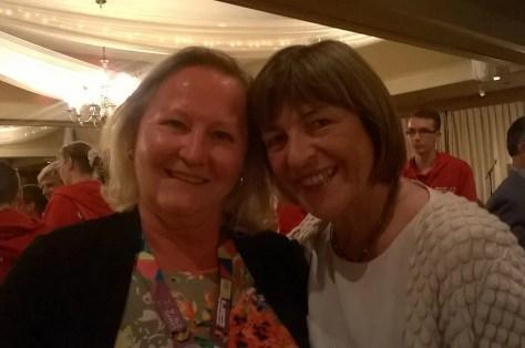 Vizepraesidentin des Deutschen Bundestages Ulla Schmidt with Principal Ursula Schoeneich GERMAN SCHOOL campus