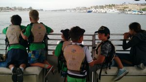 Students on the Pontoon Boat
