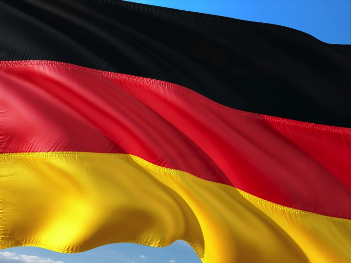 "Image of the German flag illustrating useful links for ""Information about Germany"""