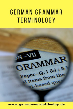 german grammar terminology pinterest