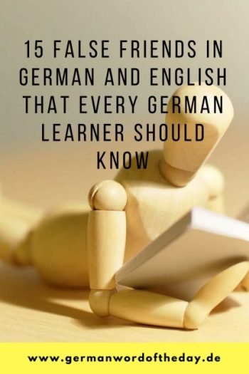 15 false friends in German and English
