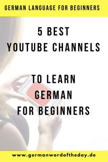 best youtube channels to learn german for free for beginners