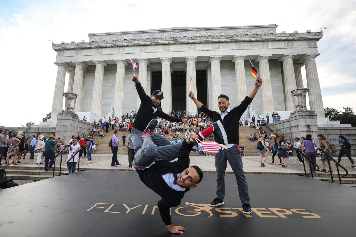 Breakdance meets Bach: The Flying Steps perform at the Lincoln Memorial