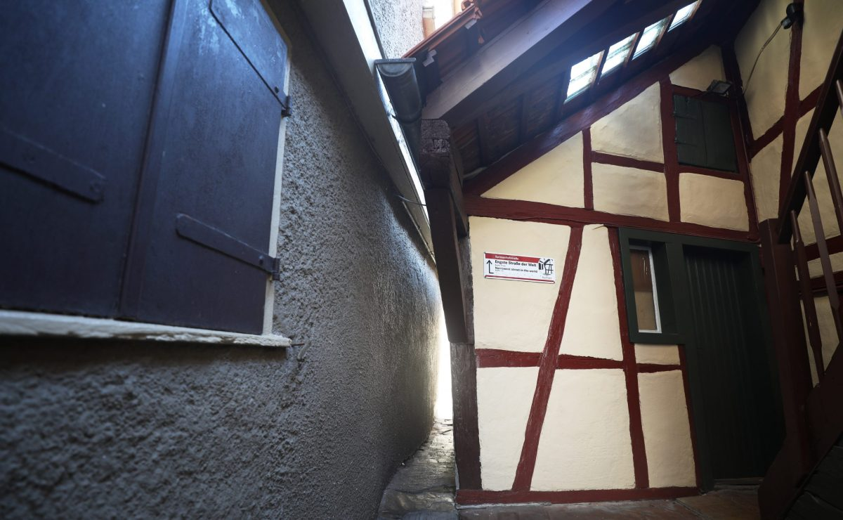 Can you fit through the world's narrowest street?