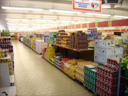 Aldi shop floor