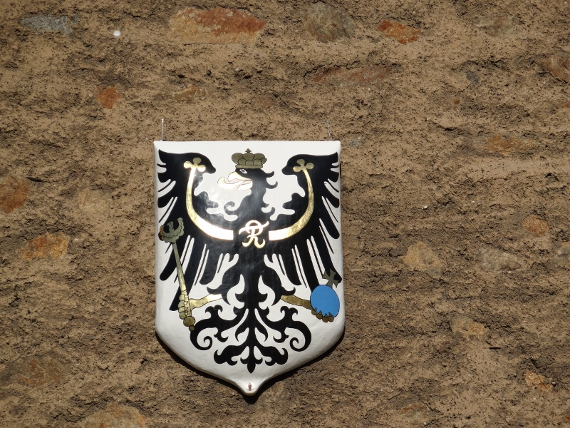 The Prussian coat of arms, on a wall in Goerlitz, east Germany.